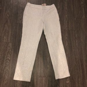 NWT Ann Taylor Embroidered Sparkle Capri Pants